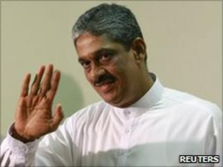 General Sarath Fonseka after a media conference at the parliament in Colombo July 8, 2010.