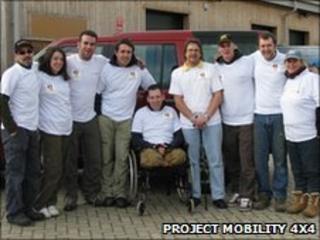 Project Mobility Team with L/Cpl Ben Hilton (centre)