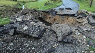 The bomb in south Armagh caused extensive damage