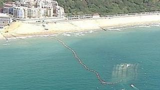 Aerial shot of Boscombe surf reef