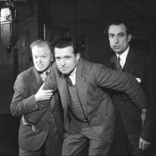 John Mann as Snowey White, Duncan Carse as Dick Barton and Alex McCrindle as Jock Anderson in 'Dick Barton - Special Agent'