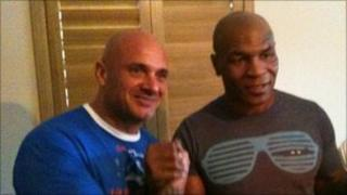 Darren Peters and Mike Tyson