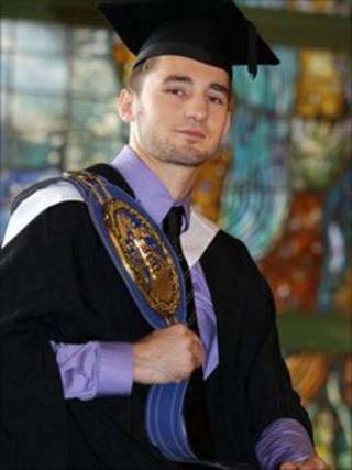 Nathan Cleverly after graduating