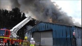 Tyre factory fire