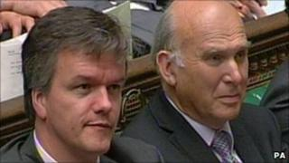 Scottish Secretary Michael Moore and Business Secretary Vince Cable