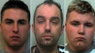 Danny White, left, Spencer Howell and Troy Skidmore