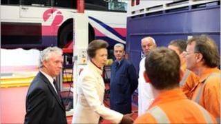 Princess Anne at FirstGroup depot