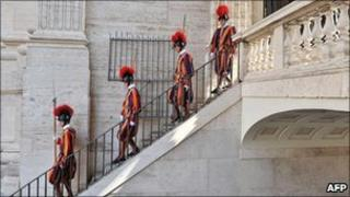 File photograph of Swiss Guards at the Vatican