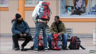 Afghan migrants near Calais, France, 10 Nov 09