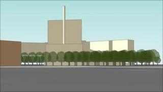 Artist's impression of new biomass plant