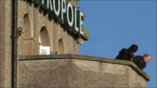 Scenes of crime officers at Metropole Hotel, Padstow