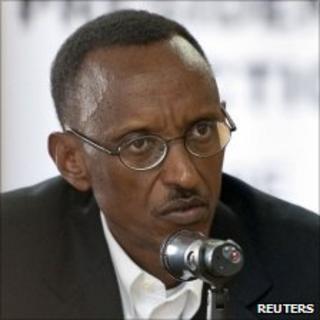 Rwandan President Paul Kagame in Kigali, June 24, 2010