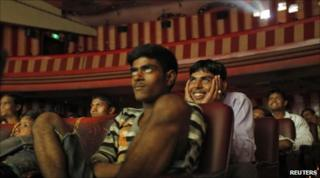 "Cinemagoers watch ""DDLJ"" in Mumbai on 11 July 2010"