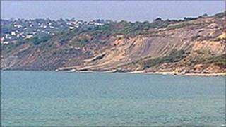 The landslide at Lyme Regis