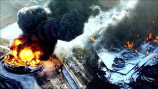Buncefield depot blast