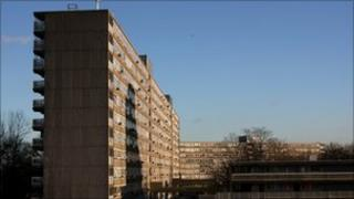 Heygate Estate in Elephant and Castle