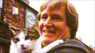 Frisky with Ken Barlow on the street