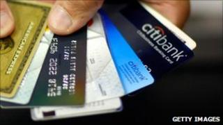 Selection of credit cards with Citibank logo