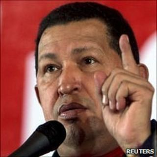 President Hugo Chavez on July 14, 2010