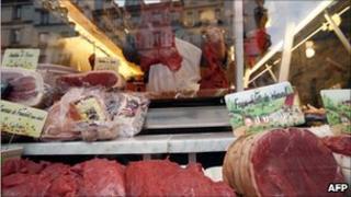 Horse butcher in France, file image