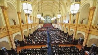 Students at graduation ceremony, Birmingham University