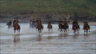 King's Troop Royal Horse Artillery in Cornwall