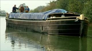 Barge on Kennet and Avon Canal