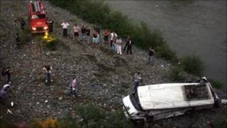 Scene of the crash. Photo: 17 July 2010