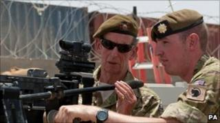 The Duke of Kent with Corporal Monkhouse