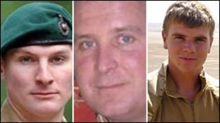 Marine Crookes, Sgt Monkhouse and Senior Aircraftman Griffiths