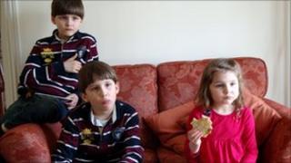 Luca, Austin and Cecilia Riggi