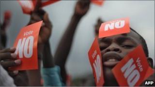 """No"" campaign rally"