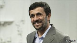 Iran's President Mahmoud Ahmadinejad on 15 July