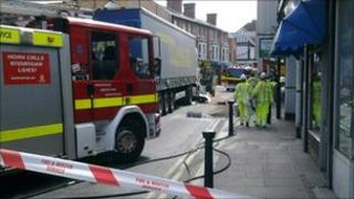 Emergency services in Peach Street, Wokingham