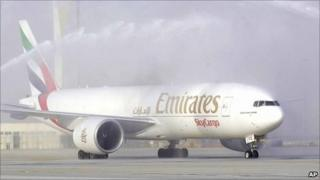 An Emirates Boeing 777