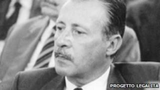 Paolo Borsellino (image from website of Progetto Legalita - Borsellino memorial foundation)