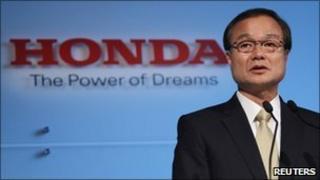 Honda Motor Chief Executive Takanobu Ito