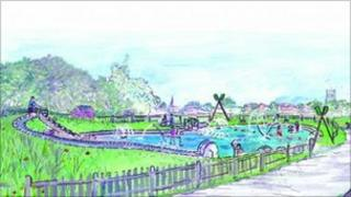 Artist's impression of new water park