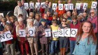 Residents opposing the plans