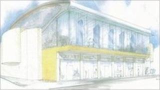 Artist's impression of ice rink complex