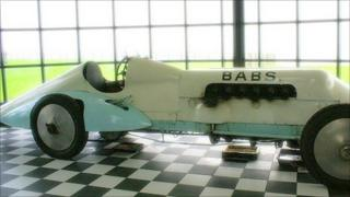 Babs the racing car at Pendine Museum