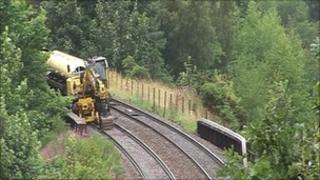 scene of Inverness rail accident