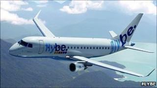 Flybe Embraer E175 jet