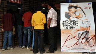 People buying tickets for Kites in Bangalore