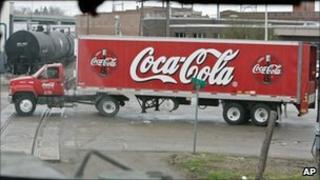 Coca Cola delivery truck in Fremont, Nebraska