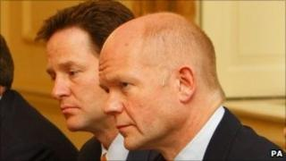 Nick Clegg and William Hague