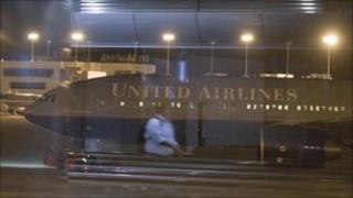United Airlines flight 967 in Denver