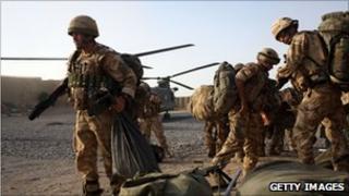 British solders in Helmand province