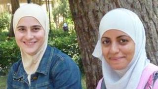 Salam (l) and friend Razam (r) both biology students