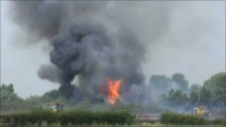 Fire at Hill Farm, Clemondiston